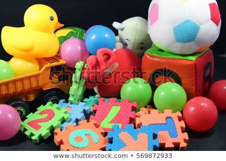 collection of colorful foam dice stock photo © taigi