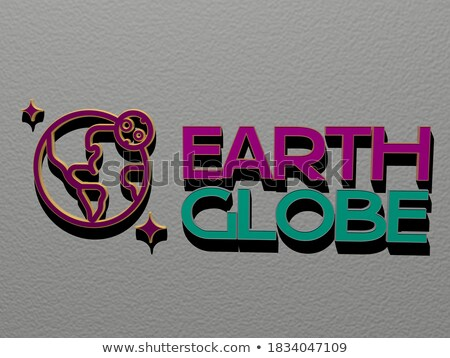 A round representation of the Earth Stock photo © bluering