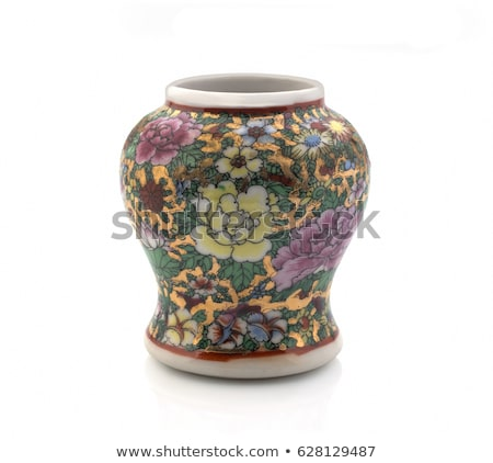 Vase chinois blanche art Photo stock © dezign56