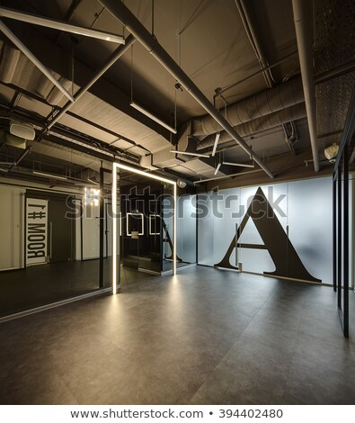 Glowing office in loft style Stock photo © bezikus