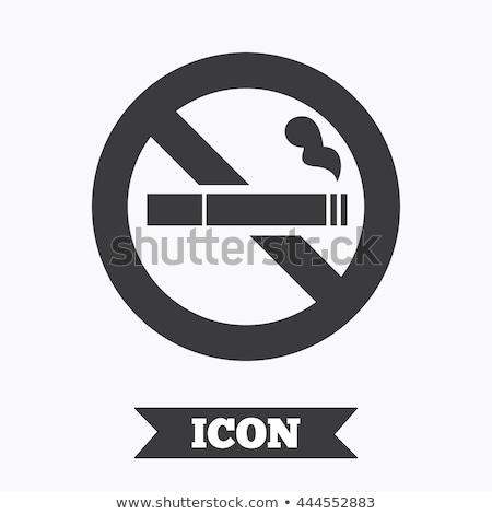 ボタン 白 背景 赤 喫煙 ストックフォト © bluering