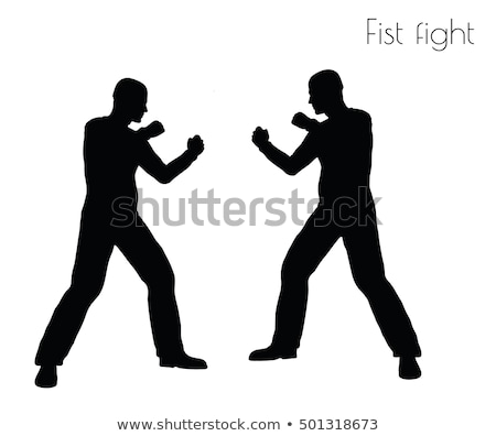 man in fistfight action pose stock photo © istanbul2009