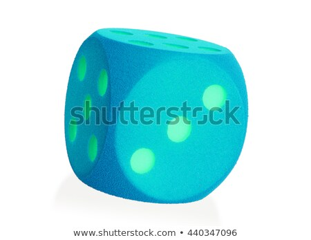 Large blue foam die isolated - 3 Stock photo © michaklootwijk