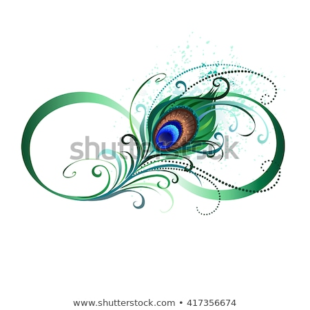 Infinity symbol with peacock feather stock photo © blackmoon979