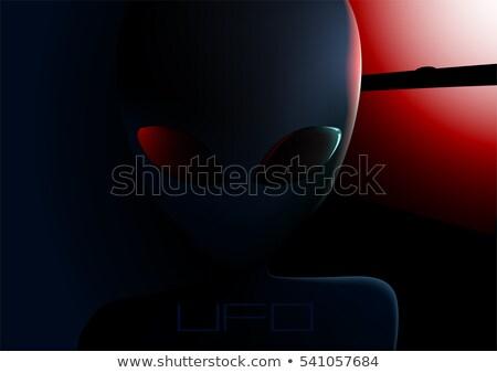 Ufo straniero visitatore finestra notte faccia Foto d'archivio © adamfaheydesigns