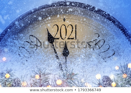 Golden New Year Clock Stock photo © Andrei_