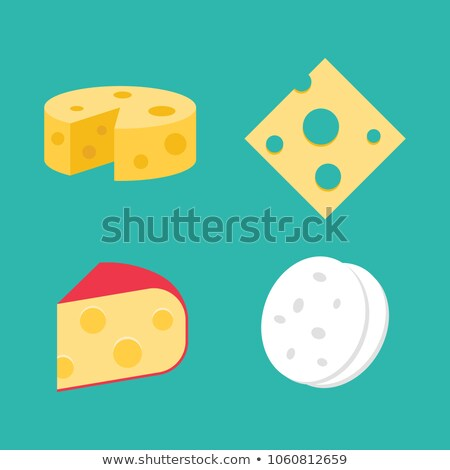 Goat Dairy Product Flat Style Vector Illustration Stock photo © robuart