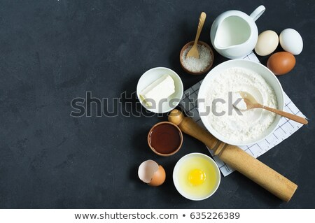 Still life of pastry and tableware utensils Stock photo © mizar_21984