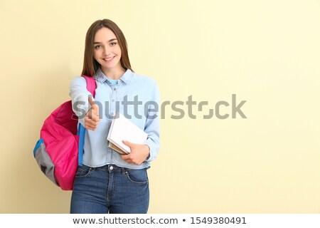alunas · jovem · para · baixo · escolas - foto stock © gregorydean