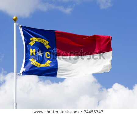 USA State North Carolina flag on white background. Stock photo © tussik
