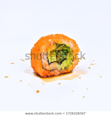 Sashimi and Vegetable Rolls with Soy Sauce Stock photo © monkey_business