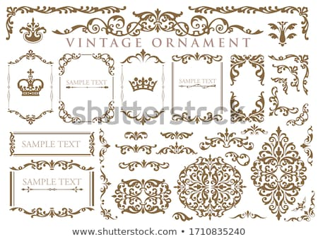 Decorative borders in vintage style - vector set Stock photo © blue-pen