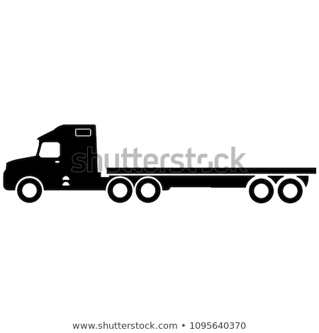 Blanc noir camion illustration vecteur Photo stock © derocz