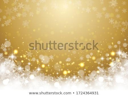 karácsony · arany · fényes · vidám · fény · keret - stock fotó © fresh_5265954