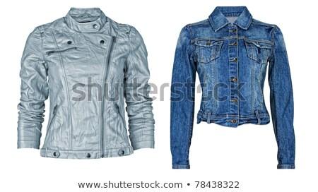 jeans · jas · textuur · ontwerp · stedelijke - stockfoto © kayros