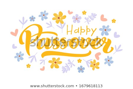Mutlu Yahudilerin hamursuz bayramı imzalamak örnek dizayn yalıtılmış Stok fotoğraf © alexmillos