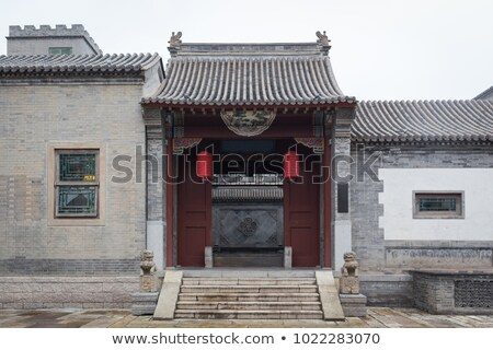 Chinese traditional style brick wall Stock photo © raywoo