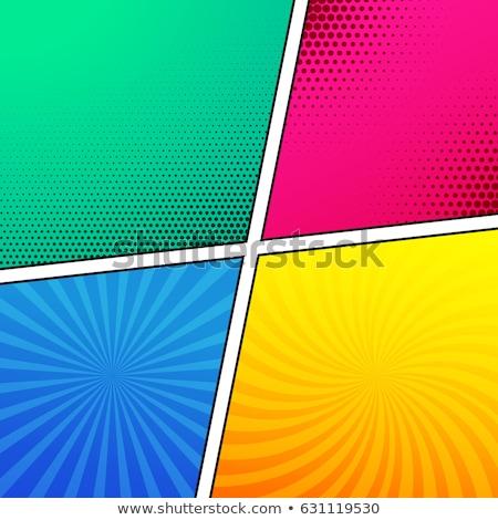 Négy üres képregény oldal sablon terv Stock fotó © SArts