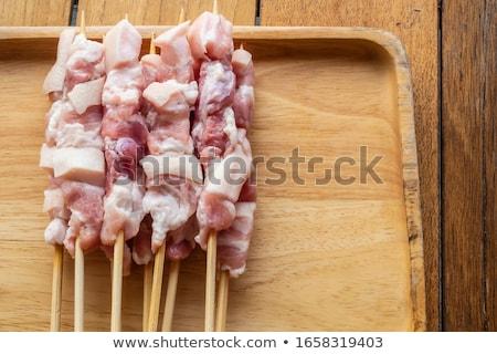 сырой · мяса · растительное · ждет · Открытый · кухонном · столе - Сток-фото © digifoodstock