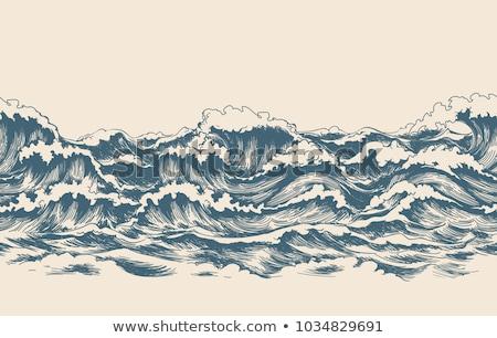 Deniz dalgalar moda dizayn arka plan Stok fotoğraf © carodi