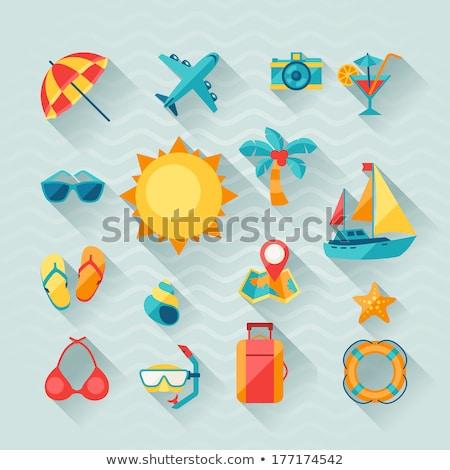 swimsuit icon flat style stock photo © ylivdesign