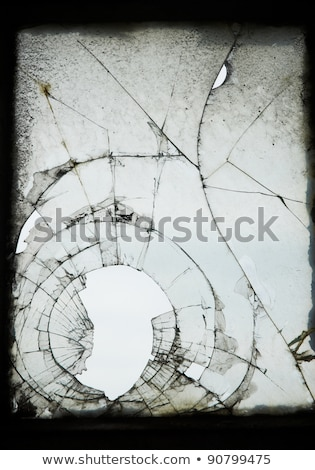 Shattered glass window pane close up Stock photo © latent