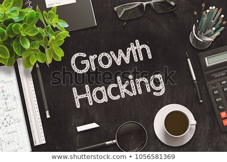 Imarketing Strategy on Chalkboard in the Office. Stock photo © tashatuvango