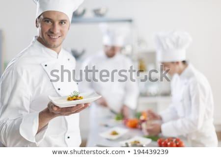 chefs · werken · commerciële · keuken · professionele · man - stockfoto © wavebreak_media
