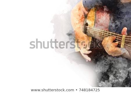 Male singer performing with guitar in nightclub Stock photo © wavebreak_media