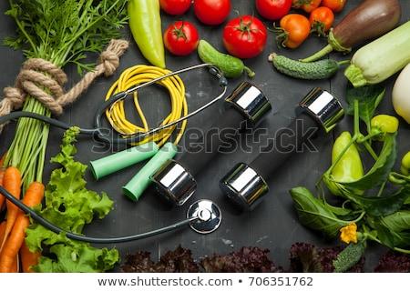 alimentação · saudável · saudável · corpo · fitness · estilo · de · vida · bonitinho - foto stock © lightsource