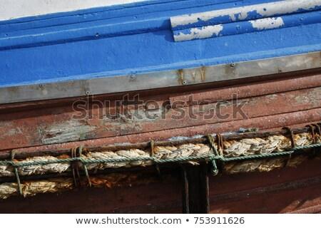 Stok fotoğraf: Eski · balık · tutma · halat · şamandıra · kum · yelkencilik