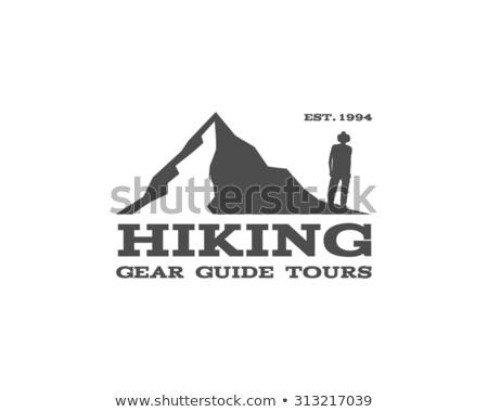 vintage · montagne · trekking · escalade · randonnée · camping - photo stock © jeksongraphics