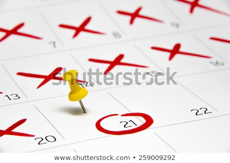 Stockfoto: Kalender · shot · Rood