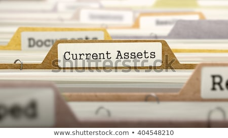 Foto stock: Folder In Catalog Marked As Current Assets