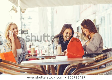 Coffee after shopping. Stock photo © Fisher