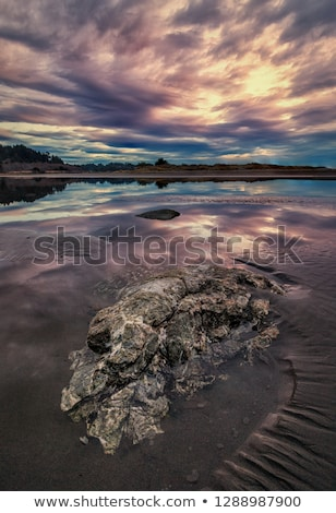 Pôr do sol Califórnia belo praia nuvens Foto stock © Backyard-Photography