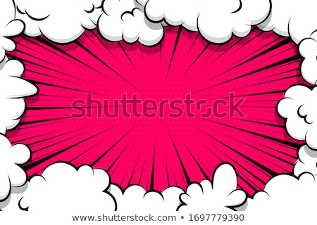 Smoke cloud set Explosion. Dust puff cartoon frame vector Stock photo © Andrei_
