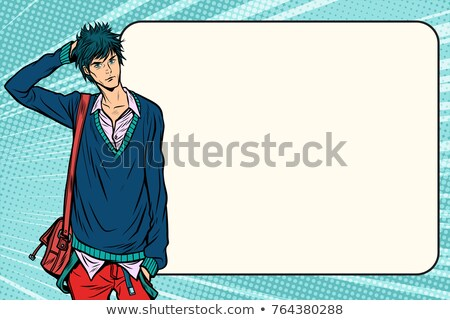 Insecure fashion student hipster manga anime style Stock photo © studiostoks