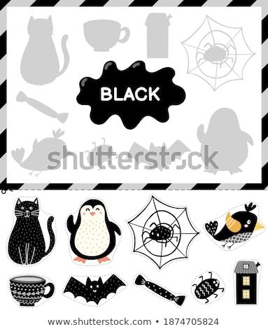 Talál helyes árnyék pók játék gyerekek Stock fotó © Olena