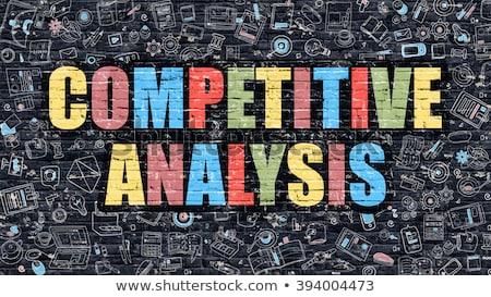 Concurrerend analyse doodle ontwerp donkere Stockfoto © tashatuvango