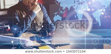 business news   concept on laptop screen stock photo © tashatuvango