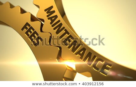 Maintenance Fees on Golden Metallic Cog Gears. Stock photo © tashatuvango