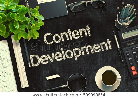content development on black chalkboard 3d rendering stock photo © tashatuvango