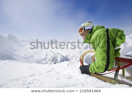Mature man preparing to ski Stock photo © IS2