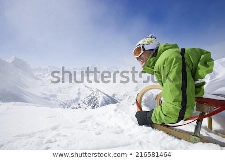 homem · inverno · férias · empresário · viajar · caminhada - foto stock © is2