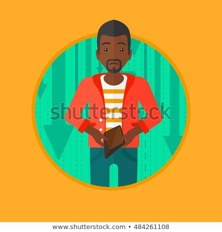 человека бумажник молодым человеком кошелька Сток-фото © RAStudio