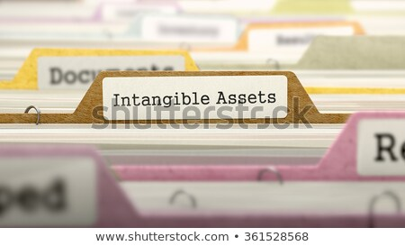 intangible assets concept folders in catalog stock photo © tashatuvango