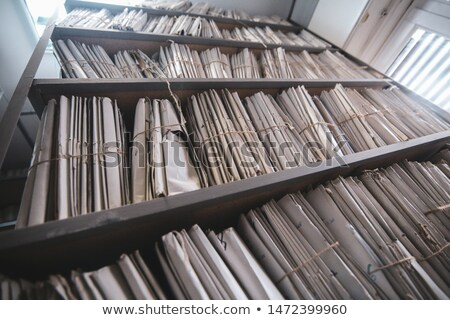Archive Bookmarks of Card Index with Top Secret. Stock photo © tashatuvango