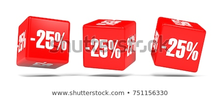 red minus twenty five percent stock photo © oakozhan