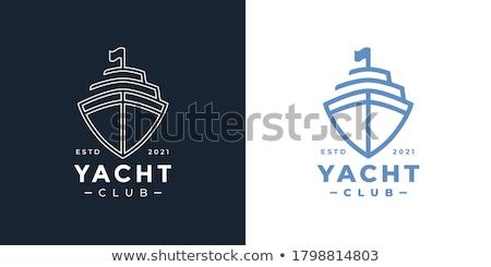 Vector logo jacht sjabloon illustratie reizen Stockfoto © butenkow